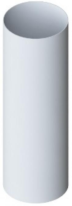 Труба водосточная с муфтой ПВХ, цвет белый, длина 3 м, диаметр 95 мм