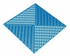 Решетка с дополнительным обрамлением 400х400х18 (синий)