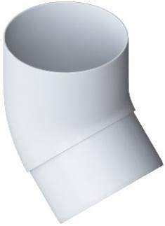 Колено трубы 45° ПВХ, цвет Белый