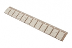 Облицовочная планка кирпич (белый), 0,92 х 0,125м,