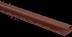 """Сайдинг Планка """"J - trim"""", 3000 мм, цвет Красно-коричневый"""