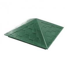 Колпак полимер-песчаный «Гибкая черепица» зеленый